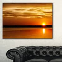 Day and Night Seascape Panorama - Modern Seashore Canvas Art