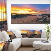 Khao Lak Beach View at Sunset - Modern Seashore Canvas Art