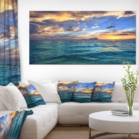 Exotic Tropical Beach at Sunset - Modern Seashore Canvas Art