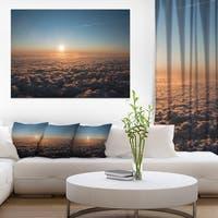 Sunset above the Dark Clouds - Oversized Beach Canvas Artwork
