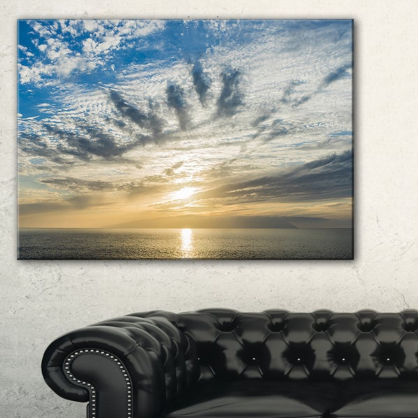 Sunset Sky above Atlantic - Oversized Beach Canvas Artwork