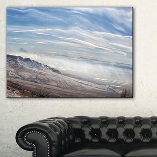 Winter Mountains in Caucasus - Oversized Beach Canvas Artwork