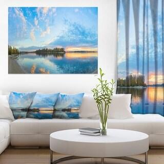 Exotic Sunrise on River Autumn - Oversized Beach Canvas Artwork