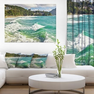 Exotic Tropical Beach Blue Waters - Oversized Beach Canvas Artwork