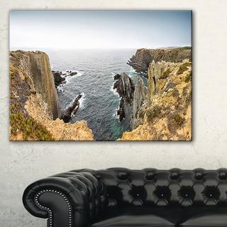 Rocky Bay Portugal Panorama - Oversized Beach Canvas Artwork