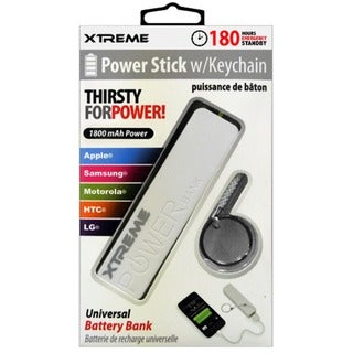 1800mAh White Universal Power Stick