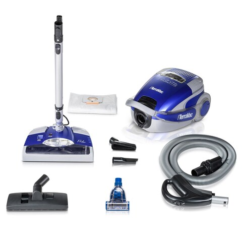 Prolux TerraVac 5-speed Quiet Canister Vacuum Cleaner Sealed HEPA Filter & Deluxe Head