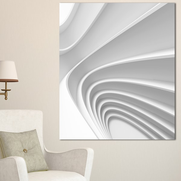 Fractal Bulgy Layered 3D Waves - Abstract Art Canvas Print. Opens flyout.
