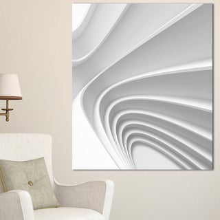 Fractal Bulgy Layered 3D Waves - Abstract  Art Canvas Print