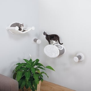 TRIXIE Pet Products Sisal Wall-Mounted Cat Lounging and Scratcher Set