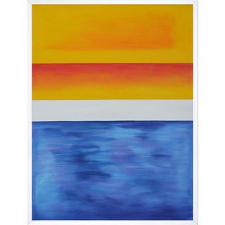 Mark Rothko 'Yellow, Red, Blue' Hand Painted Framed Canvas Art