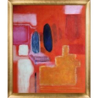 Mark Rothko 'No. 9' Hand Painted Framed Canvas Art