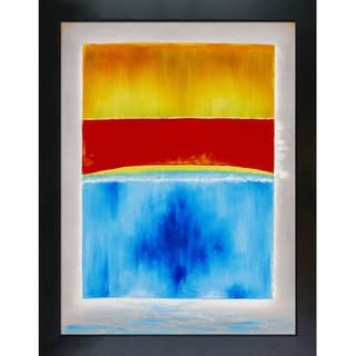Mark Rothko 'Untitled (yellow, red, and blue)' Hand Painted Framed Canvas Art