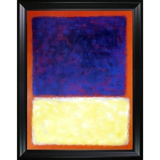 Mark Rothko 'Red, Orange, Tan and Purple' Hand Painted Framed Canvas Art