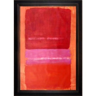 Mark Rothko 'Untitled (Red)' Hand Painted Framed Canvas Art