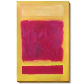 Mark Rothko 'Composition' Hand Painted Framed Canvas Art
