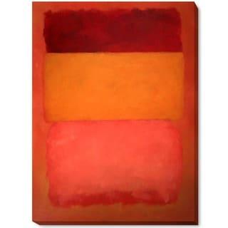 Mark Rothko 'Orange, Red, Yellow' Hand Painted Framed Canvas Art