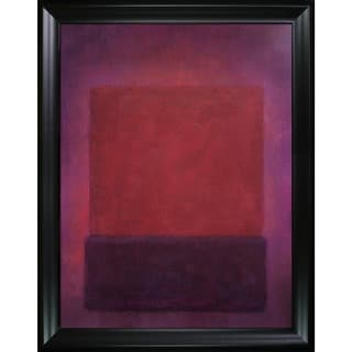 Mark Rothko 'Purple and Brown' Hand Painted Framed Canvas Art
