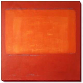 Mark Rothko 'Ochre and Red on Red' Hand Painted Framed Canvas Art