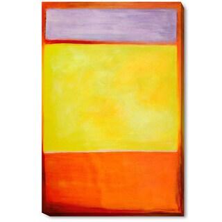 Mark Rothko 'No. 7' Hand Painted Framed Canvas Art