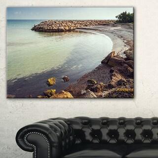 Little Lagoon with Fishermen Africa - Extra Large Seashore Canvas Art