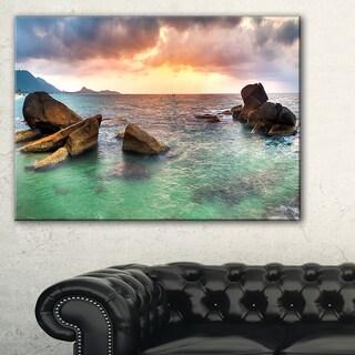 Sunrise at Blue Lamai Beach - Extra Large Seashore Canvas Art