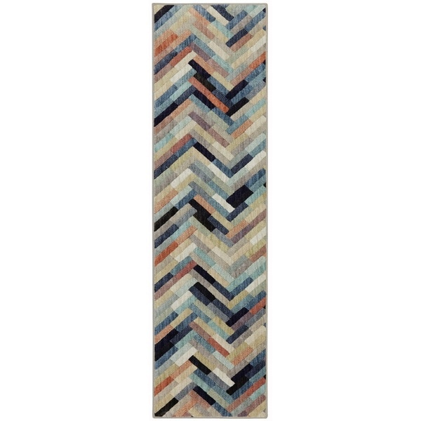 Mohawk Home Cascade Heights Caftan Stripe Multi Area Rug (2'1 x 7'10) - 2'1 x 7'10