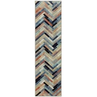 Mohawk Home Cascade Heights Caftan Stripe Multi Area Rug (2'1 x 7'10)