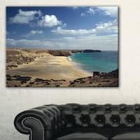 Bright Seashore with Blue Waters - Extra Large Seashore Canvas Art