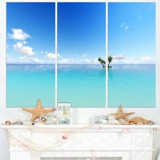 Blue Corals Island Sea - Seashore Canvas Wall Artwork