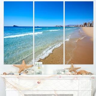 Benidorm Poniente Beach Waves - Seashore Canvas Wall Artwork