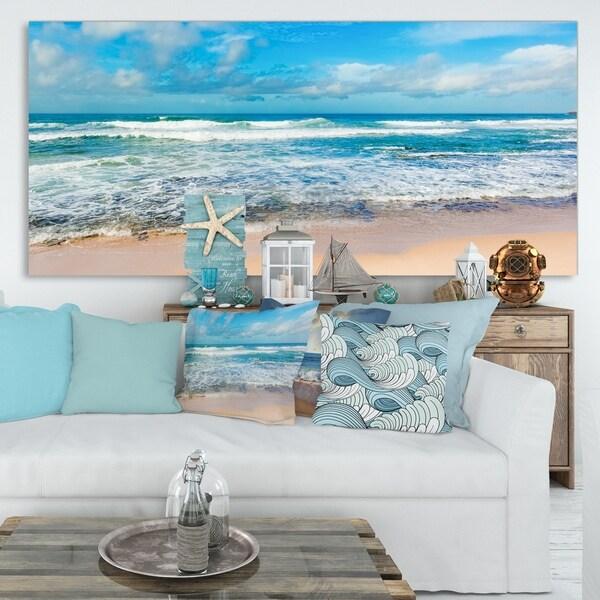 Indian Ocean Panoramic View - Extra Large Seashore Canvas Art