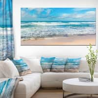 Indian Ocean Panoramic View - Extra Large Seashore Canvas Art