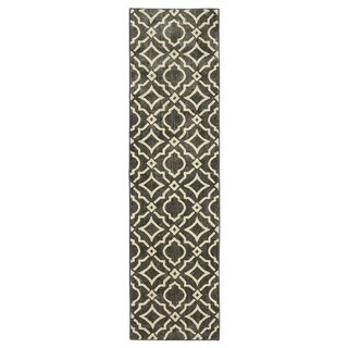 Mohawk Home Studio Carved Tiles Denim Area Rug (2'1 x 7'10) - 2'1 x 7'10