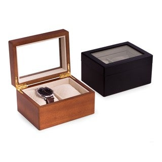 Vincent Solid Wood Double Watch Box