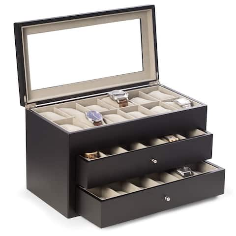 Vincent Solid Wood 36-watch Box