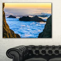 Gran Canaria Sunset over Clouds - Extra Large Seashore Canvas Art
