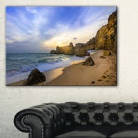 Beautiful Sunset over Algarve Portugal - Extra Large Seashore Canvas Art