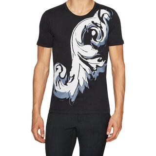 Versace Collection Men's Black Cotton Printed T-shirt