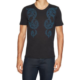 Versace Collection Men's Black/ Blue Printed T-Shirt