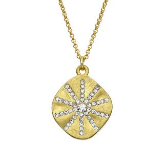 Isla Simone - Gold Tone Crystal Sun Burst Necklace