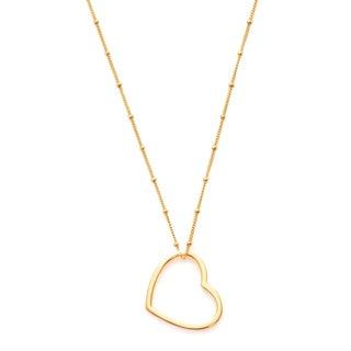 Goldtone Heart Pendant Necklace
