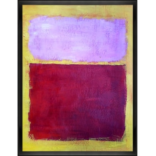 Mark Rothko 'Untitled No. 17' Hand Painted Framed Canvas Art
