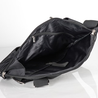 Sacs of Life Black/ Green Crossbody Bag and Shopping Tote