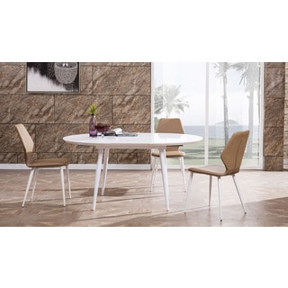 American Eagle White Oval Extendable Dining Table