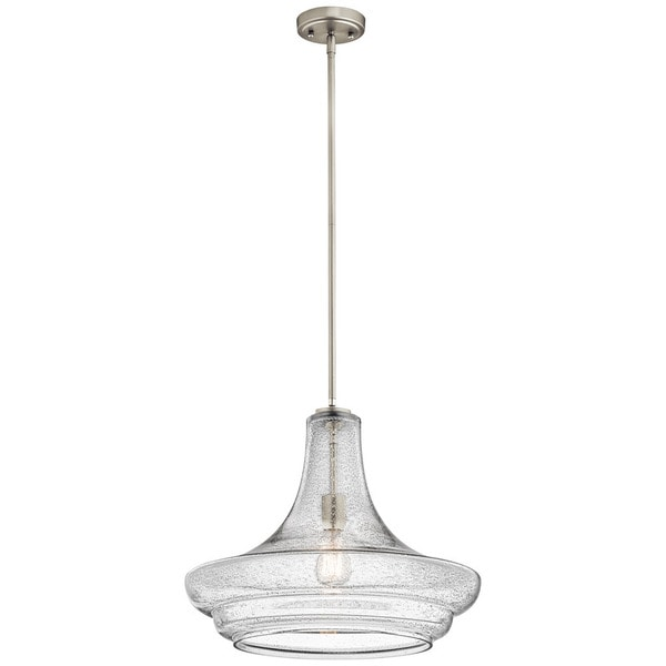 Kichler Lighting Everly Collection 1-light Brushed Nickel Pendant 19 inch Diameter - N/A