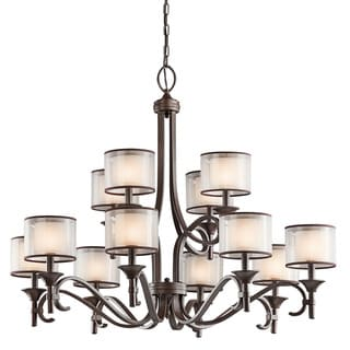 Kichler Lighting Lacey Collection 12-light Mission Bronze Chandelier