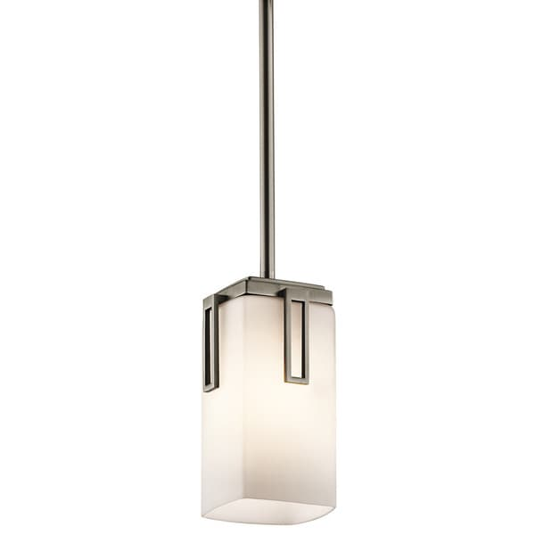 Kichler Lighting Leeds Collection 1-light Antique Pewter Mini Pendant