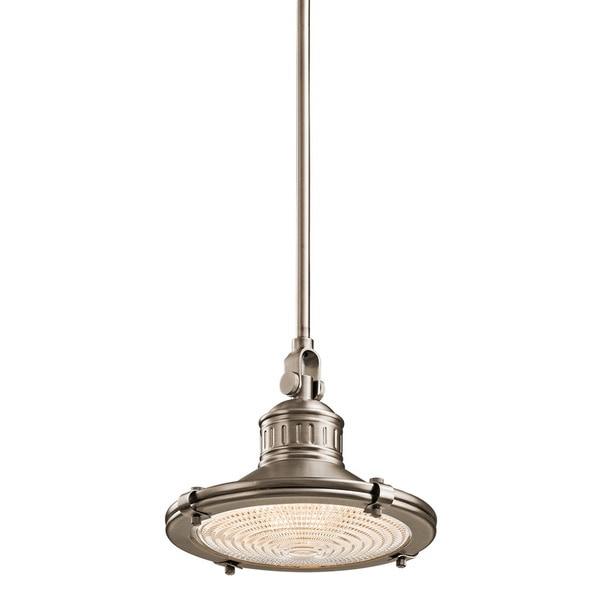 Kichler Lighting Sayre Collection 1-light Antique Pewter Mini Pendant