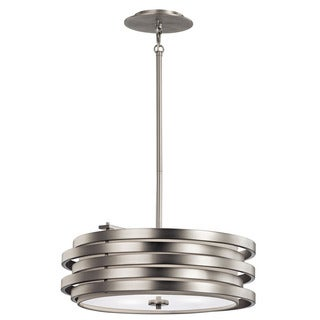 Kichler Lighting Roswell Collection 3-light Brushed Nickel Pendant